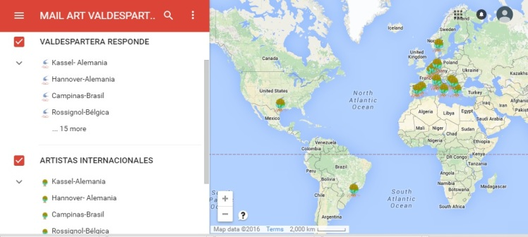 Mapa mail artistas